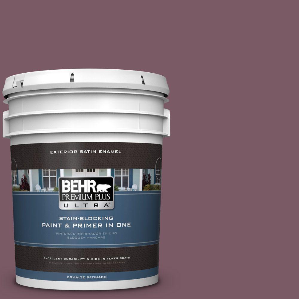 BEHR Premium Plus Ultra 5-gal. #ICC-84 Simply Elegant Satin Enamel Exterior Paint
