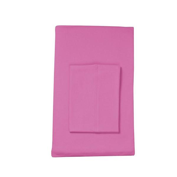 296246265f8 The Company Store Jersey Knit Berry Solid Cotton King Flat Sheet ...