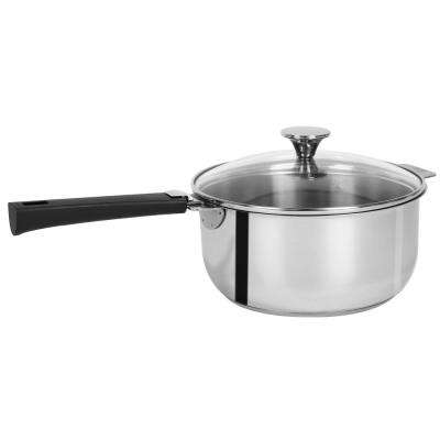 Tulipe 3.0 Qt. Stainless Steel Sauce Pan with Glass Lid