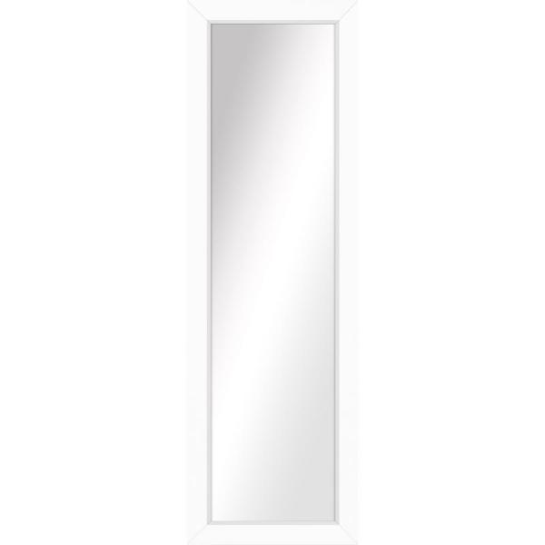 Large Rectangle White Art Deco Mirror (53.5 in. H x 17.5 in. W)