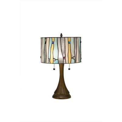 Tiffany Contemporary 20 in. Blue Bronze Table Lamp