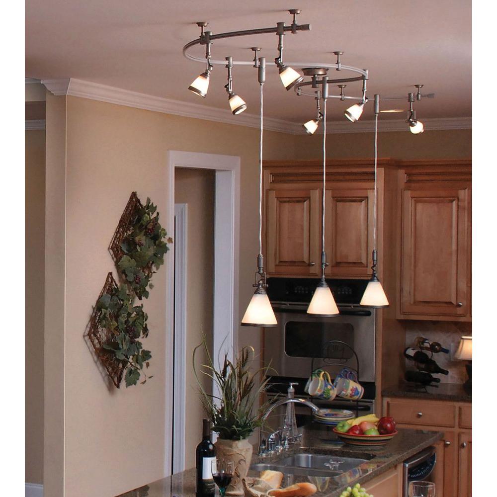 flexible track lighting ceiling kit brushed steel nickel spot light