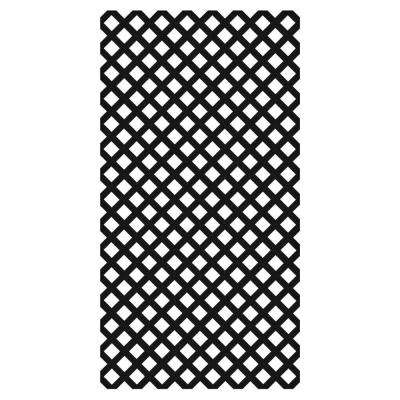 0.2 in. x 48 in. x 8 ft. Black Vinyl Classic Diamond Lattice