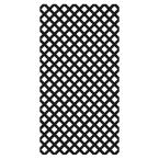 4 ft. x 8 ft. Black Garden Vinyl Lattice
