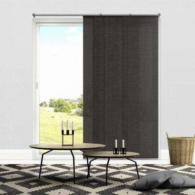 Cut-to-Length Nautical Grey Cordless Polyester Panel - 80 in. W x 96 in. L
