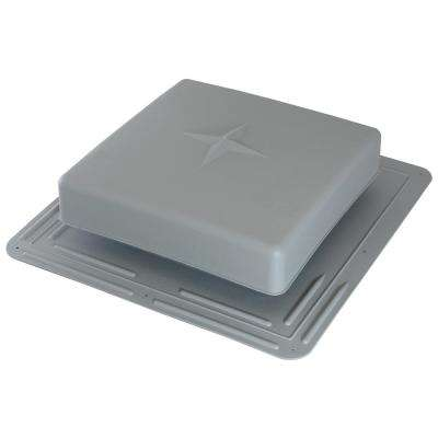 61 sq. in. NFA Plastic Square-Top Roof Louver Static Roof Vent in Gray (Sold in Carton of 10 only)