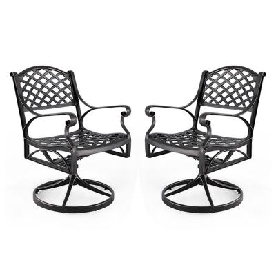 Tethys Swivel Aluminum Outdoor Dining Chair (2-Pack)