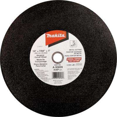 14 in. x 1 in. x 1/8 in. Cut-off Wheel (5-Pack)