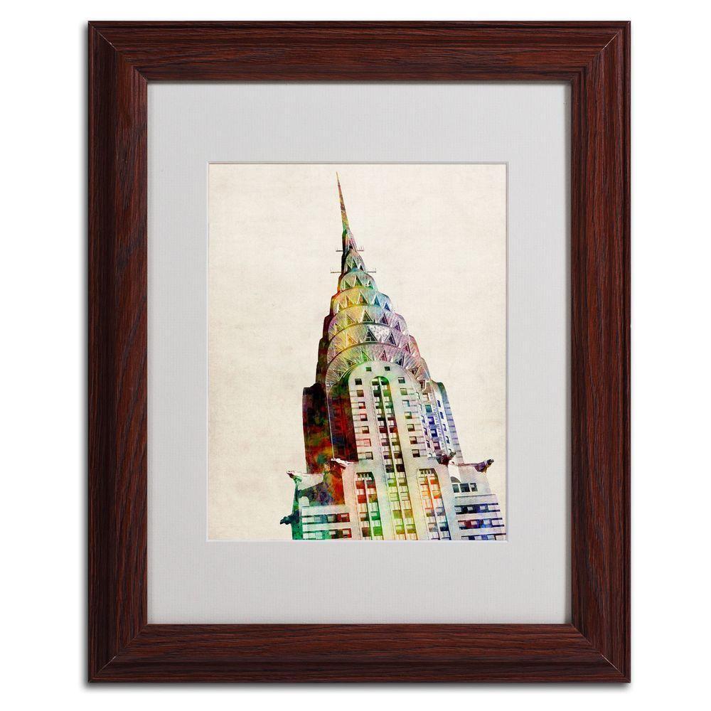 11 in. x 14 in. Chrysler Building Matted Framed Art