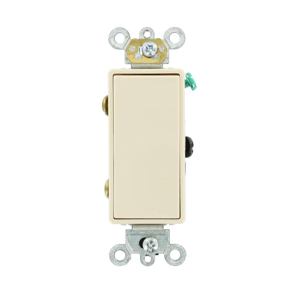 Leviton Decora 15 Amp 3-Way Switch, White-R62-05603-2WS