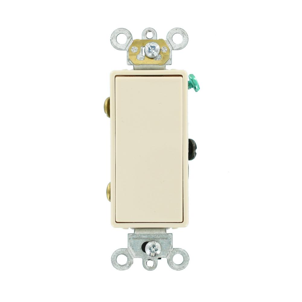 Leviton Decora 15 Amp 3 Way Illuminated Switch White R72 05613 2ws Wiring Diagram Free Picture Ac Quiet Rocker Light Almond