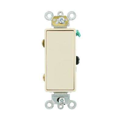 Decora 15 Amp 3-Way AC Quiet Rocker Switch, Light Almond