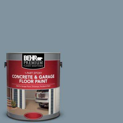 1 gal. #PFC-54 Blue Tundra 1-Part Epoxy Satin Interior/Exterior Concrete and Garage Floor Paint