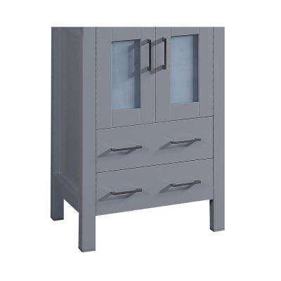 Bosconi 22.9 in. Single Vanity Cabinet Only in Gray Brushed Nickel Hardware