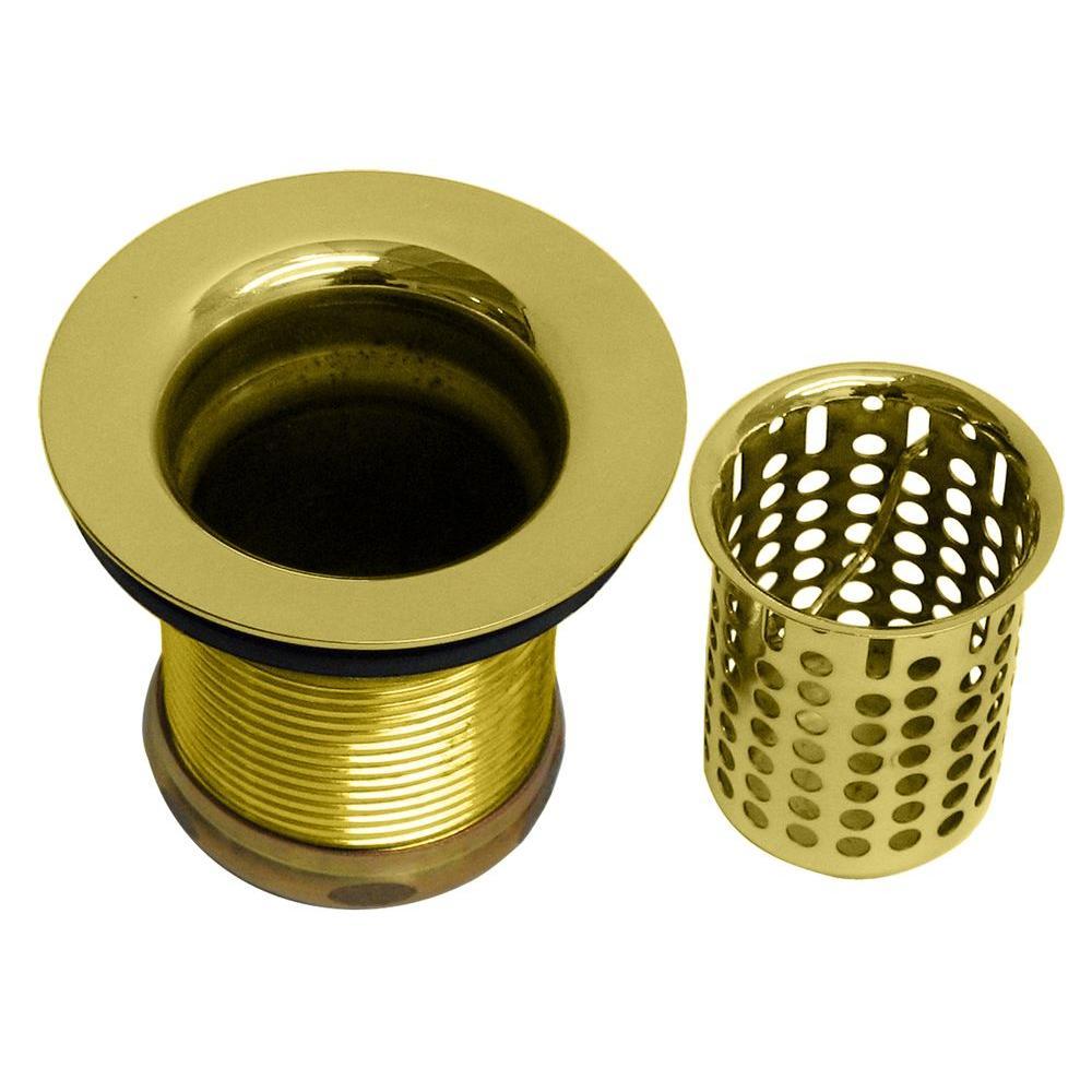 2 in. Basket Sink Strainer in Polished Brass