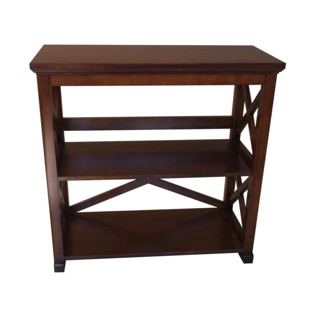 Brexley 2-Shelf Bookcase in Warm Chestnut