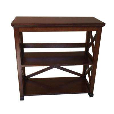 Brexley 2-Shelf Bookcase in Warm Chestnut