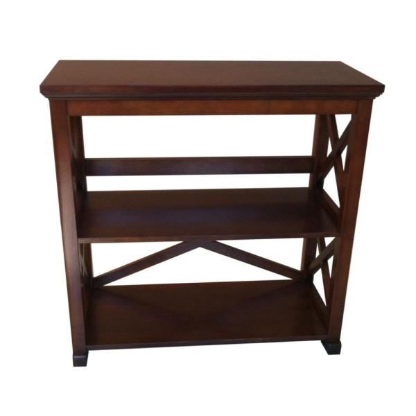 Home Decorators Collection Brexley 2-Shelf Bookcase in Warm Chestnut THD90036.1a.OF