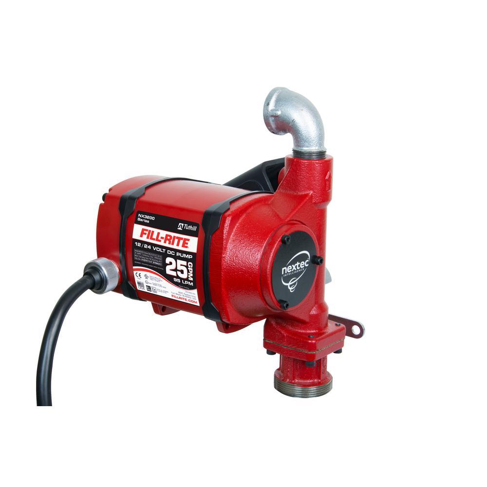 12-Volt/24-Volt 25 GPM 1/3 HP Nextec Fuel Transfer Pump (Pump Only w/Bung Mount)