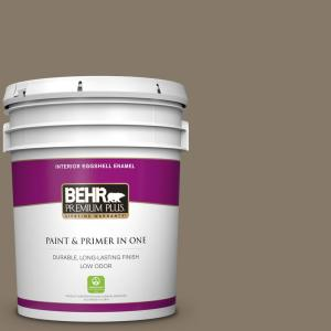 Behr Marquee 5 Gal 740d 6 Mountain Elk Flat Exterior Paint And Primer In One 445305 The Home Depot