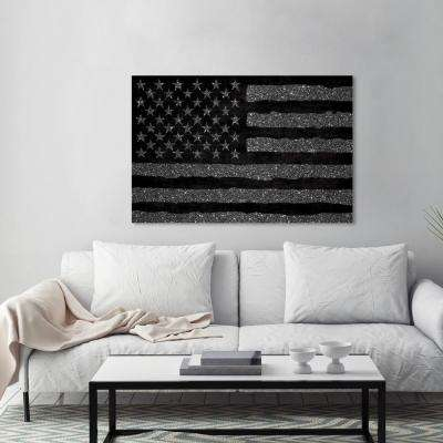 "45 in. x 30 in. ""Rocky Freedom"" by Wynwood Studio Framed Printed Canvas Wall Art"