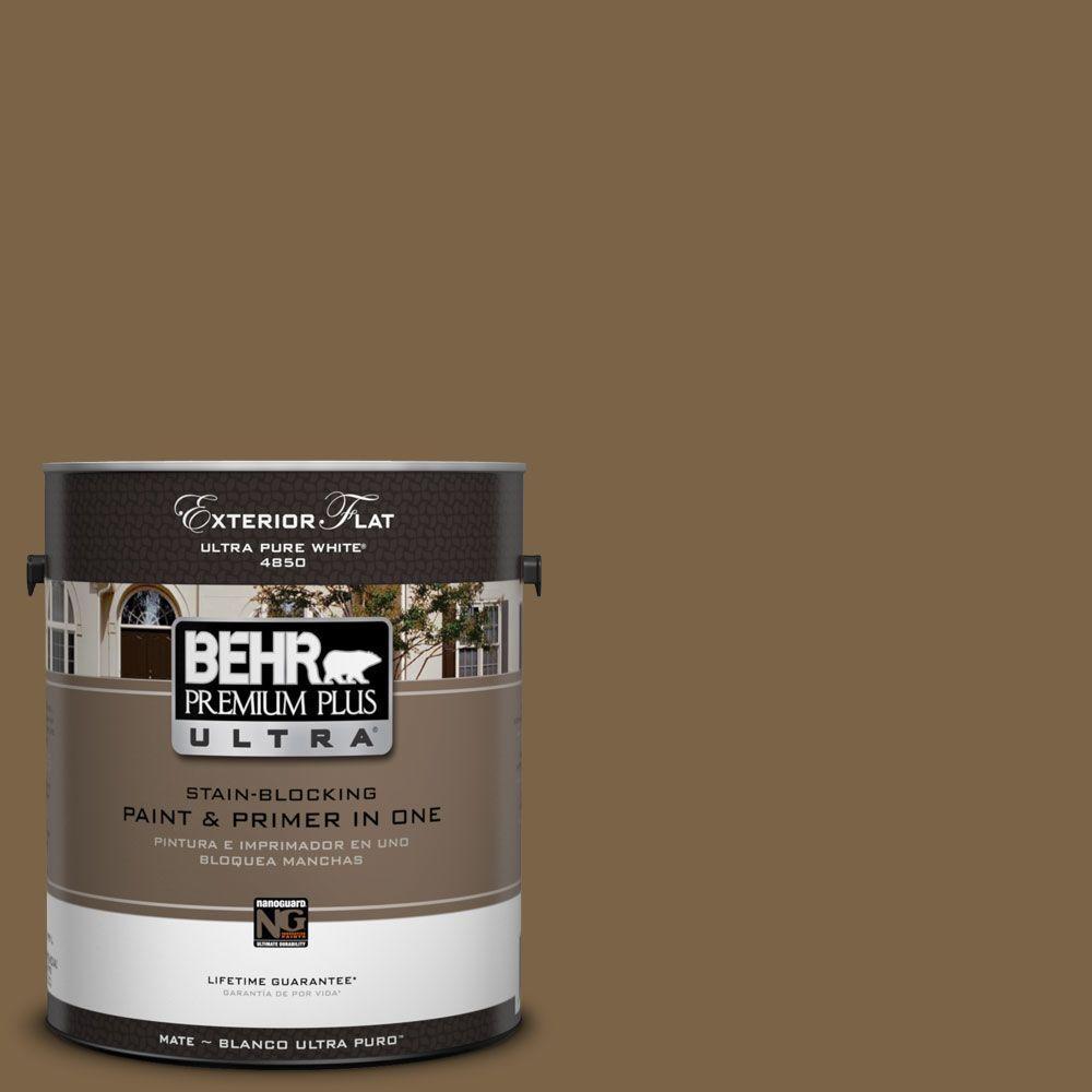 BEHR Premium Plus Ultra 1-Gal. #UL140-22 Arts And Crafts Flat Exterior Paint
