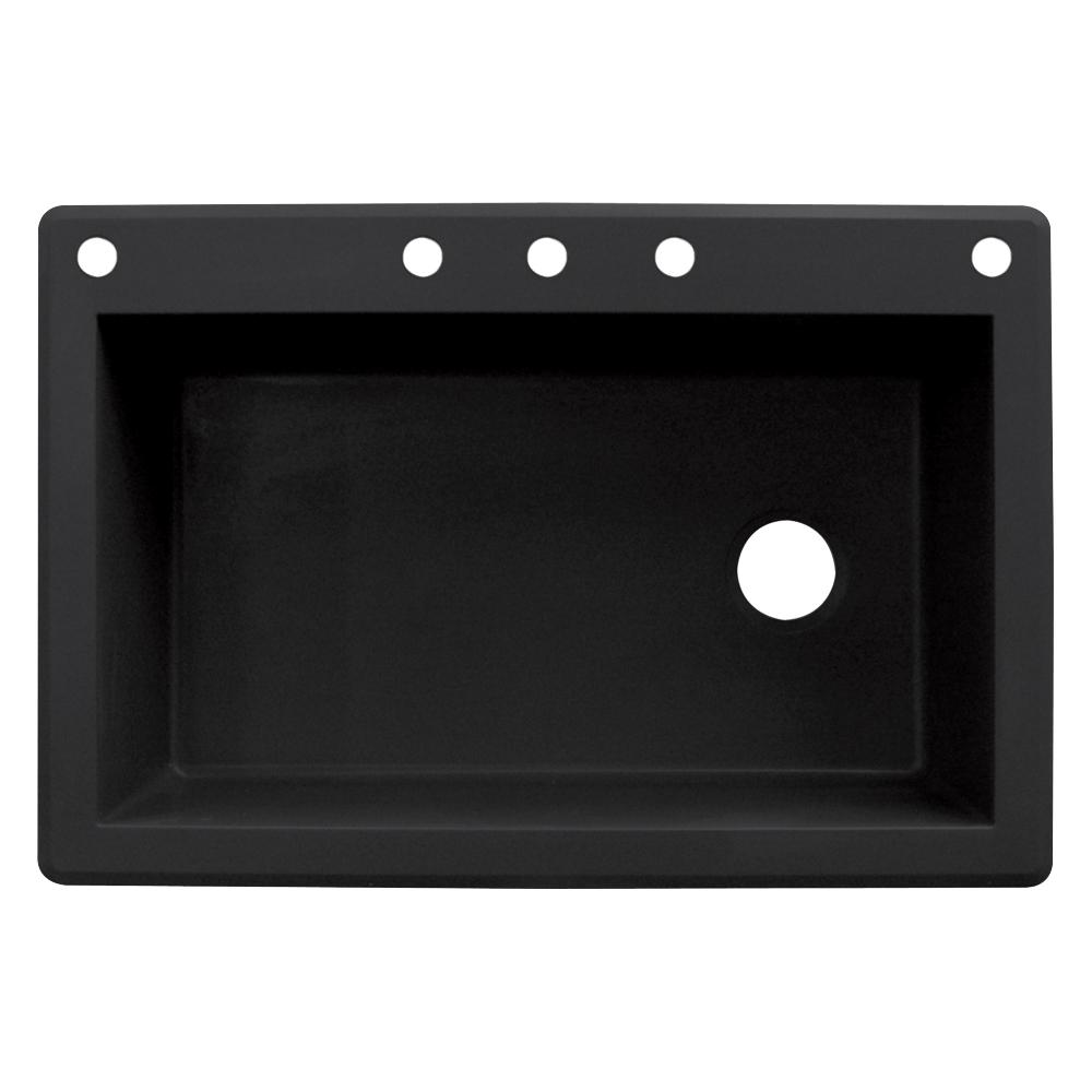 Granite Black Single Hole Kitchen Sink