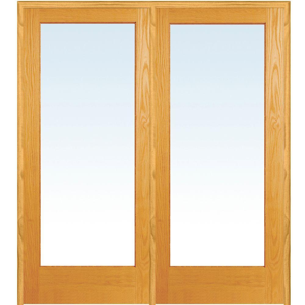 Mmi door 72 in x 80 in right hand active unfinished pine for 1 lite french door