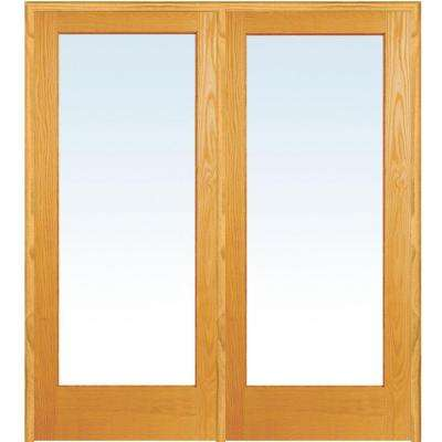 72 In. X 80 In. Unfinished Right Hand Active Pine Wood Clear Full