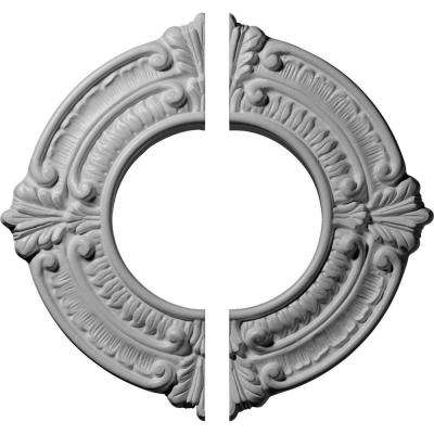 9 in. O.D. x 4-1/8 in. I.D. x 5/8 in. P Benson Ceiling Medallion (2-Piece)
