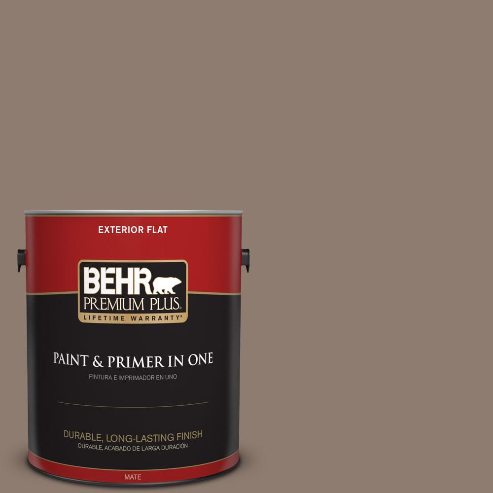 BEHR Premium Plus 1-gal. #N180-5 Bridle Leather Flat Exterior Paint