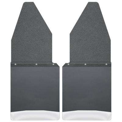 Kick Back 12 in. W Front Mud Flaps with Black Top and Stainless Steel Weight