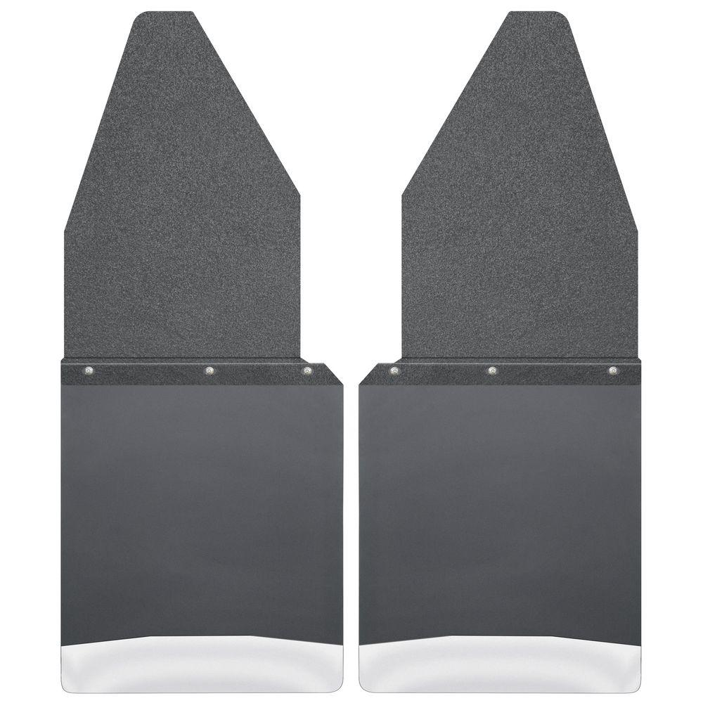 Husky Liners Kick Back 12 in. W Front Mud Flaps with Blac...