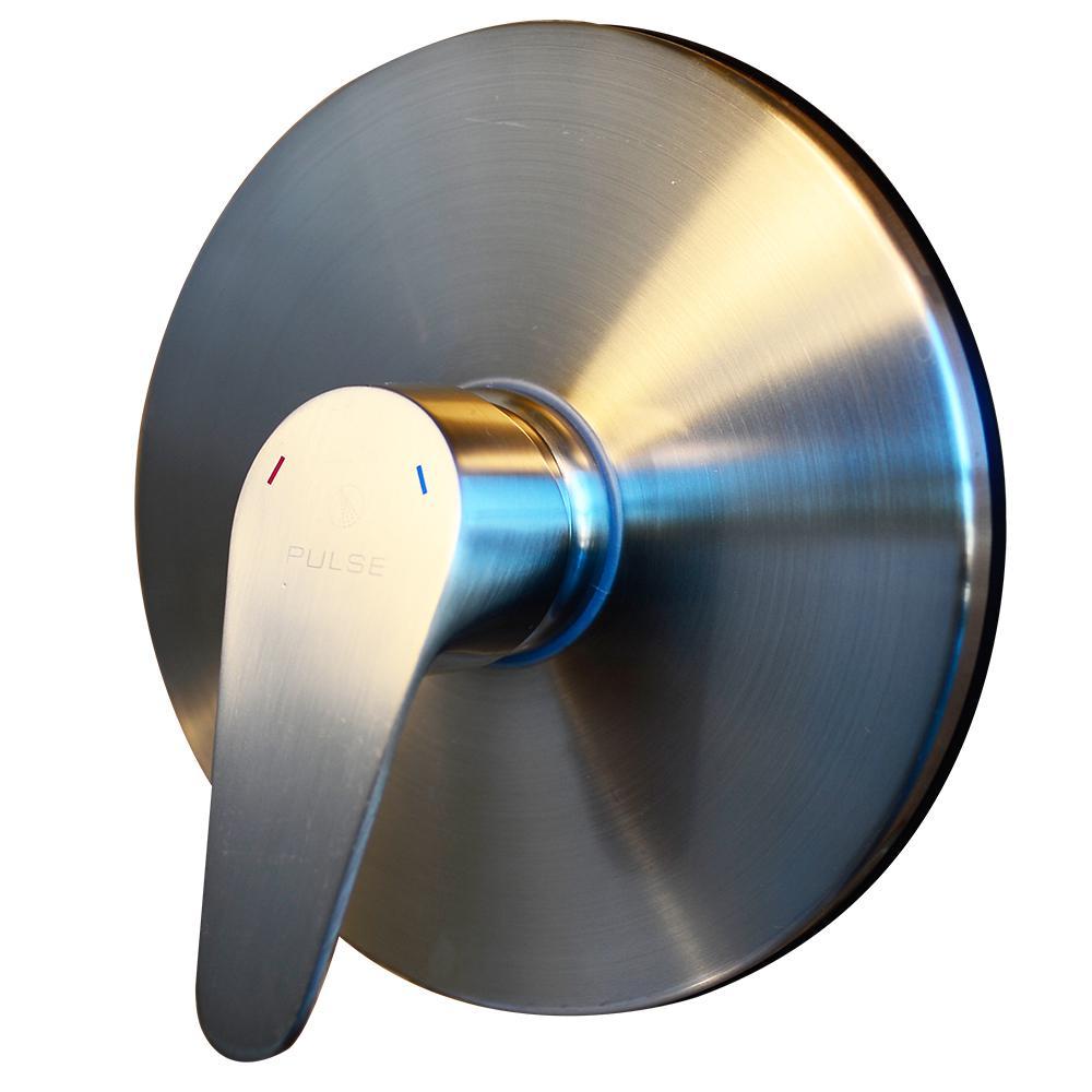 Tru-Temp 1-Handle Pressure Balanced 1/2 in. Rough-In Valve Trim Kit in Brushed Nickel (Valve Included)