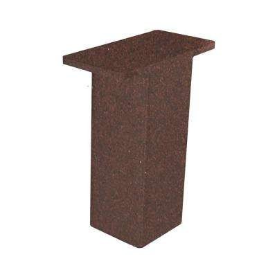 The Plaza 4 in. x 2 in. x 5 in. Bronze Countertop Stand Off Post Support