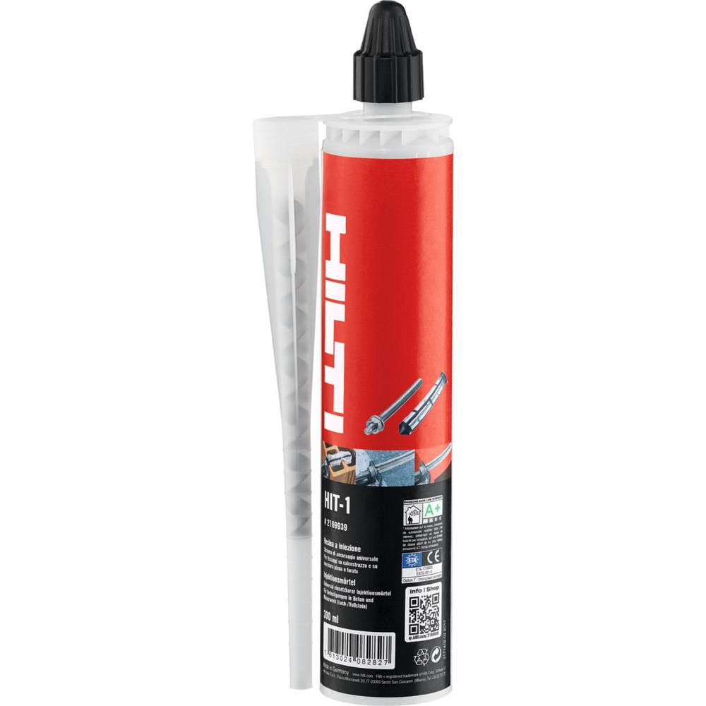 Hilti HIT-1 Hybrid Anchor Adhesive 10 oz. Tube
