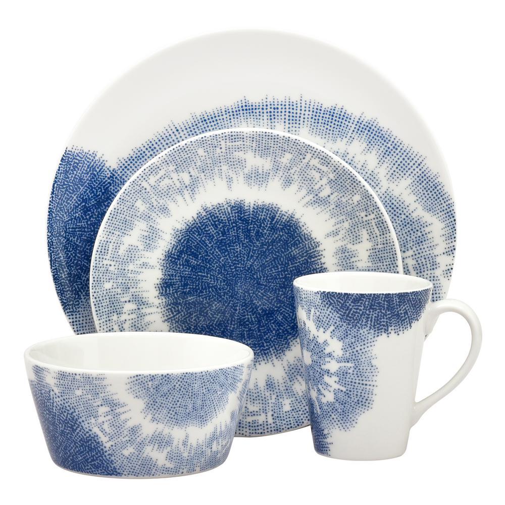 Aozora Coupe 4-Piece Porcelain Dinnerware Set