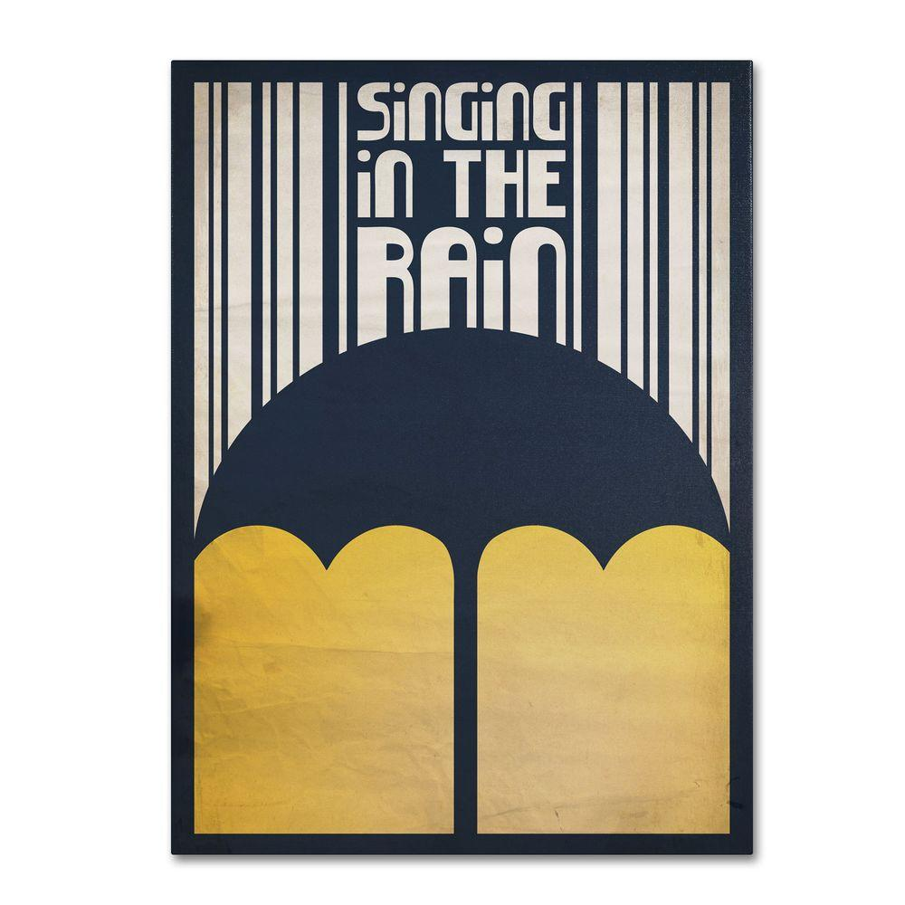 Trademark Fine Art 22 in. x 32 in. Singing in the Rain Canvas Art