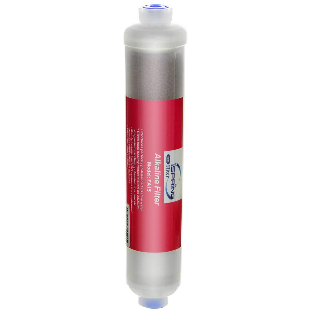 FA15 10 in. Inline 3-Layer Alkaline Replacement Water Filter Cartridge with