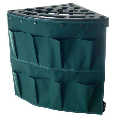 23.125 in. W x 21.25 in. H x 16.5 in. D 19-Tier Storage Tool Rack Tower with Removable Storage Pouch in Green