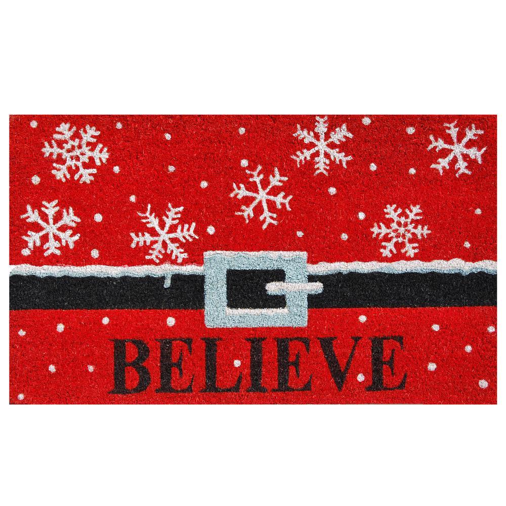 Believe 17 in. x 29 in. Coir Door Mat