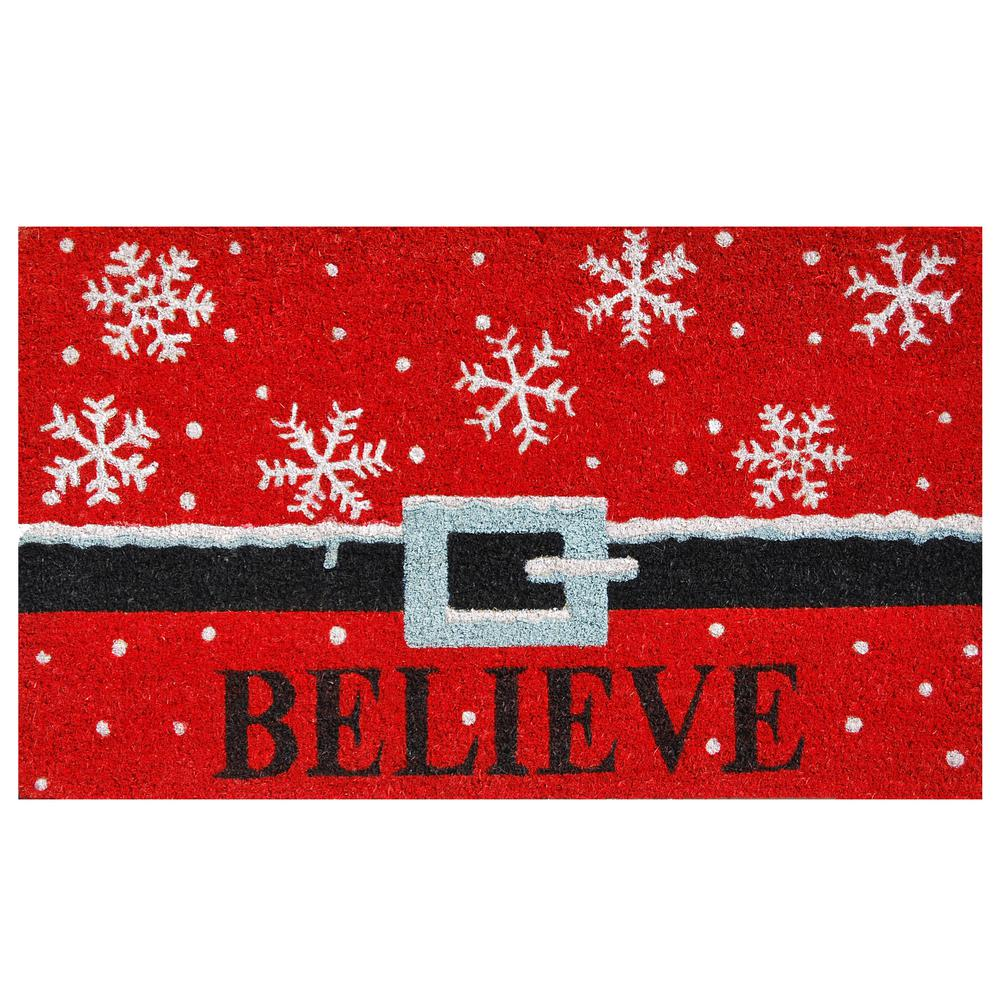 Believe 17 in. x 29 in. Coir Door Mat