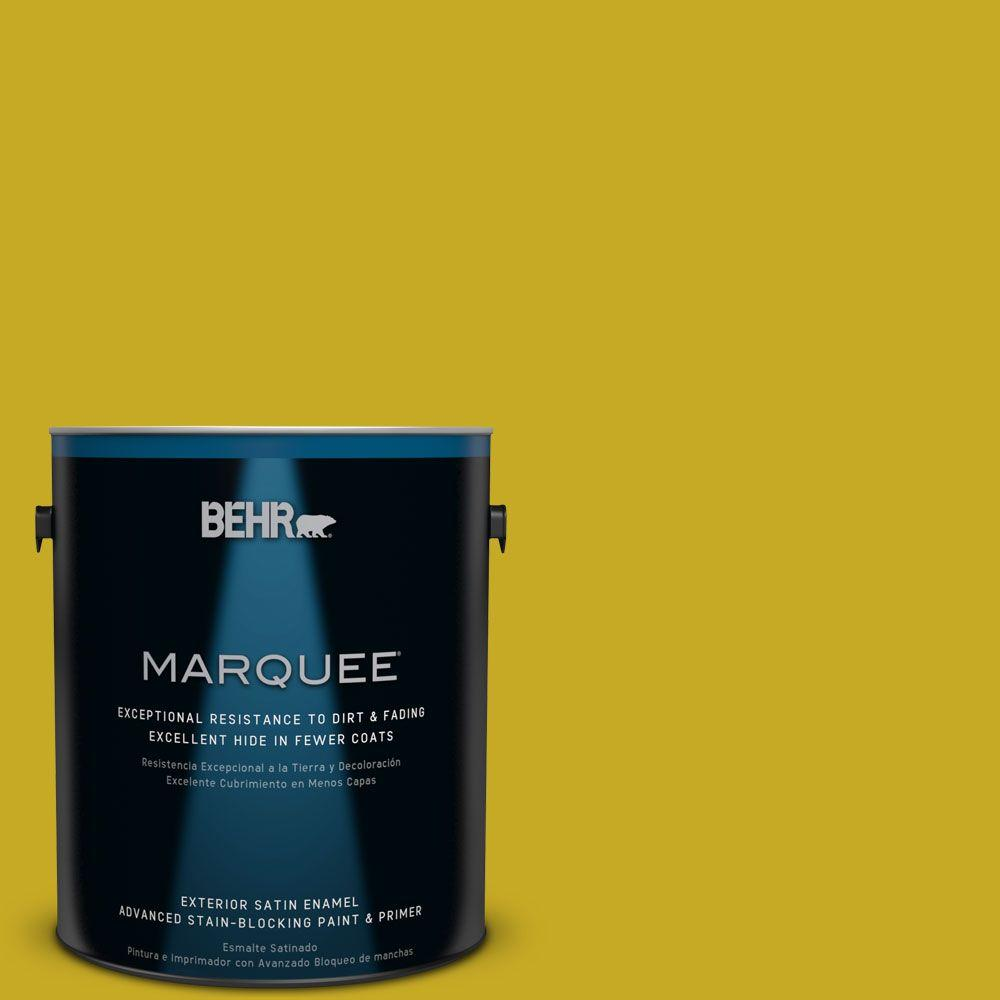 BEHR MARQUEE Home Decorators Collection 1-gal. #HDC-MD-03 Citronette Satin Enamel Exterior Paint
