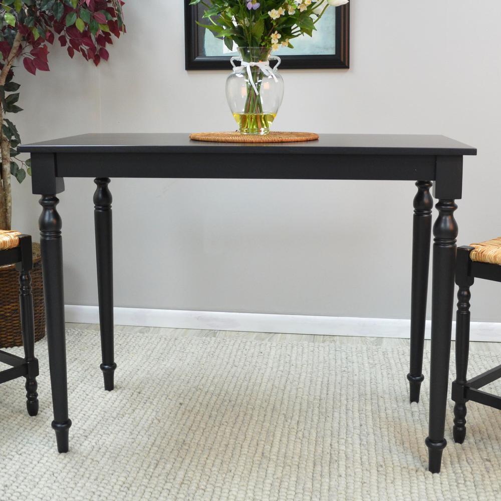Hawthorne Antique Black Pub/Bar Table