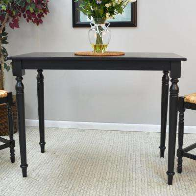 Hawthorne Antique Black Pub/Bar Table