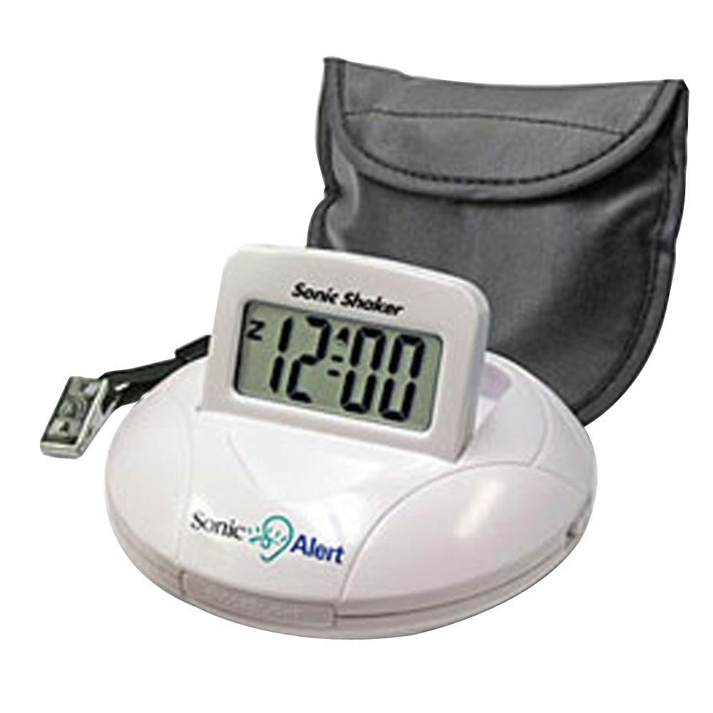 Sonic Alert Sonic Bomb Digital Travel Alarm Clock