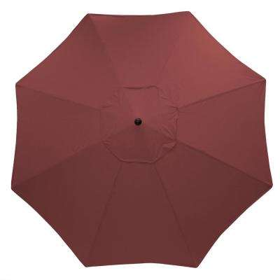 11 ft. Aluminum Market Patio Umbrella in CushionGuard Aubergine