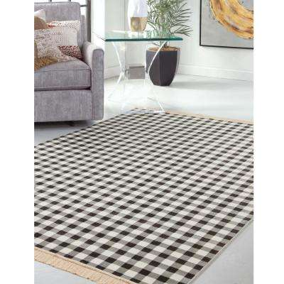 Sonoma Tartan Charcoal 5 ft. 3 in. x 7 ft. 6 in. Area Rug