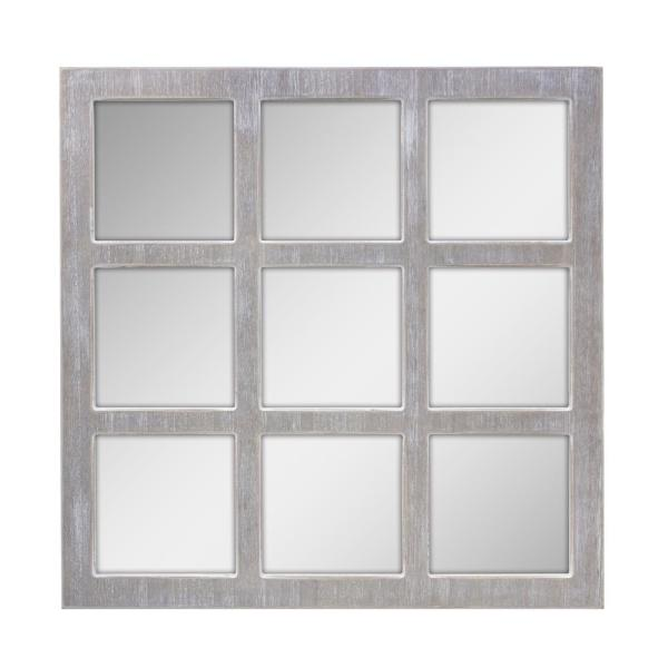 Stonebriar Collection Worn White 9-Panel Window Pane ...