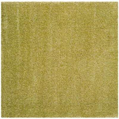 Santa Monica Shag Green 6 ft. 7 in. x 6 ft. 7 in. Square Area Rug